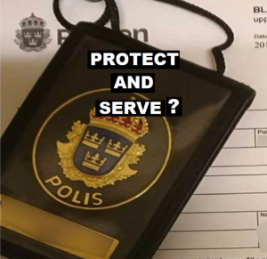 Protect and Serve police badge